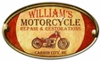 Personalized Motorcycle Repair Metal Sign