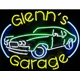 Personalized Neon Garage Sign