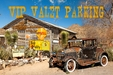 Photo Valet Parking with Wood Frame Metal Sign