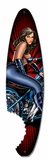 Pin Up Surfboard Metal Sign