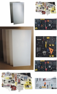 Items in Plastic Pegboard