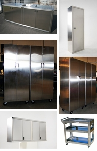 Items in Polished Stainless Steel Cabinets