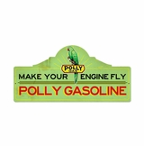 Polly Gas Station Metal Sign