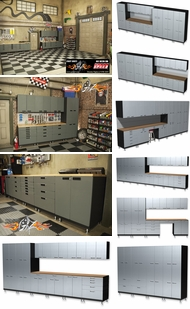 Items in Powder Coated Silver Cabinets