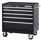 "Pro HD Series 40"" Roller Cabinet With 5 Drawers in Black"