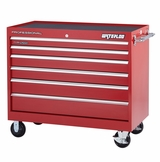 "Pro HD Series 46"" Roller Cabinet With 6 Drawers in Red"