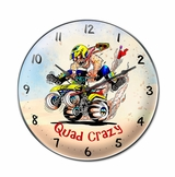 Quad Crazy Metal Sign