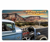 RAT ROD REBELS Metal Sign
