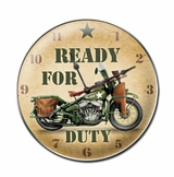 Ready For Duty Metal Sign