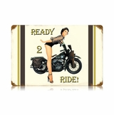 Ready To Ride Metal Sign