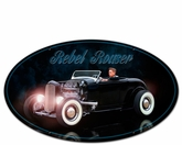 REBEL ROUSER OVAL SHAPE Metal Sign