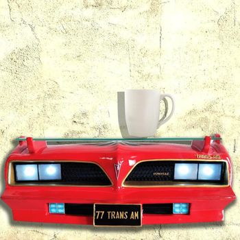 Red 1977 Pontiac Trans Am SE Wall Shelf with working Lights