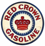 Red Crown Gas XL Metal Sign