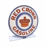 Red Crown Gasoline Topper Metal Sign