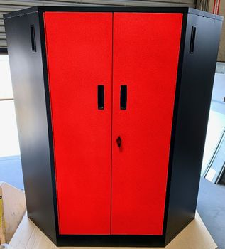 Red Steel Corner Locker