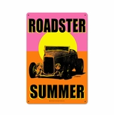 Roadster Summer Metal Sign
