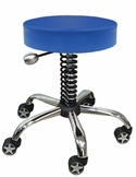 Rolling Garage Stool Navy