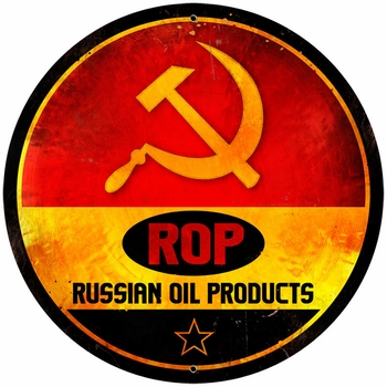 Rop Gasoline Metal Sign