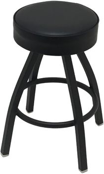 Round Top Shop Stool With Wide Base