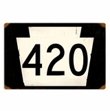 Route 420 Metal Sign