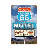 Route 66 Cocktail Metal Sign