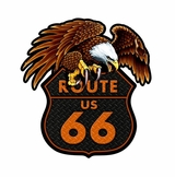 Route 66 Eagle Metal Sign