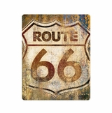 Route 66 Grunge Metal Sign