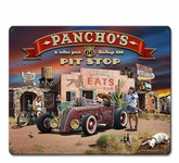Route 66 Pancho's Metal Sign