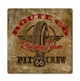 Route 66 Racing Metal Sign