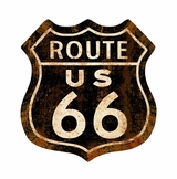 Route 66 Rusty Metal Sign