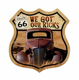 Route 66 Rusty Sign