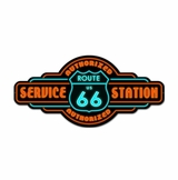 Route 66 Service Metal Sign