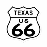 Route 66 Texas Metal Sign