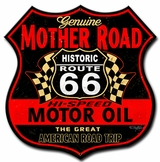 Route 66 The Mother Road Metal Sign