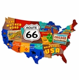 Route 66 Usa Metal Sign