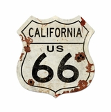 ROUTE CALIFORNIA US 66 LARGE Metal Sign