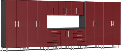 Ruby Red Metallic MDF 11-Piece Kit with Workstation