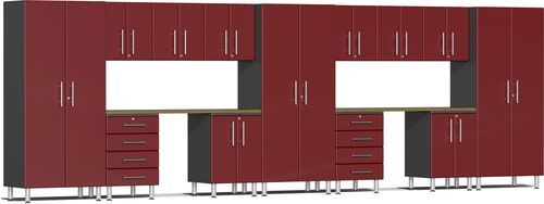 Ruby Red Metallic MDF 15-Piece Kit with Dual Workstation