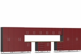 Ruby Red Metallic MDF 16-Piece Kit with Dual Workstation