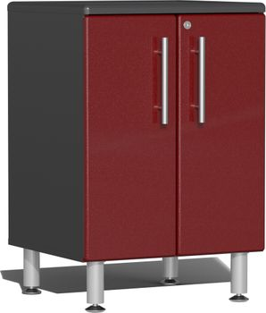 Ruby Red Metallic MDF 2-Door Base Cabinet