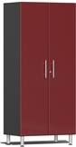 Ruby Red Metallic MDF 2-Door Tall Cabinet