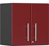 Ruby Red Metallic MDF 2-Door Wall Cabinet