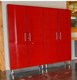 Ruby Red Metallic MDF 2-Pc Tall Cabinet Kit