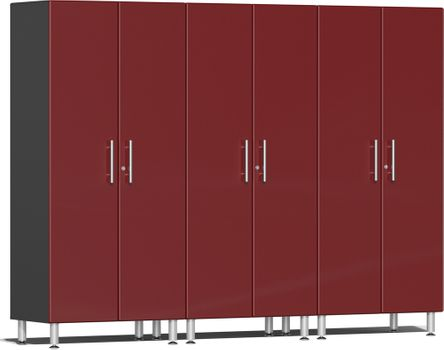 Ruby Red Metallic MDF 3-Pc Tall Cabinet Kit