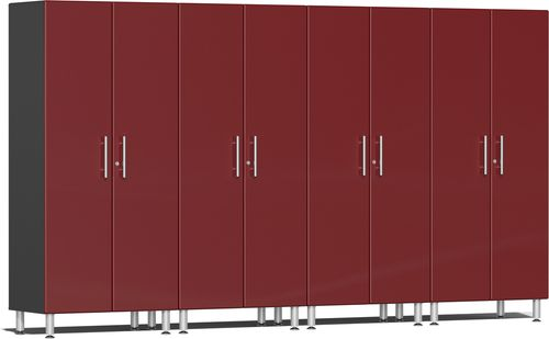 Ruby Red Metallic MDF 4-Pc Tall Cabinet Kit