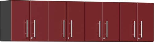Ruby Red Metallic MDF 4-Piece Wall Cabinet Kit