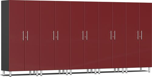 Ruby Red Metallic MDF 5-Pc Tall Cabinet Kit