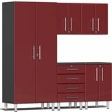 Ruby Red Metallic MDF 5-Piece Kit