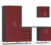 Ruby Red Metallic MDF 5-Piece Kit with Workstation