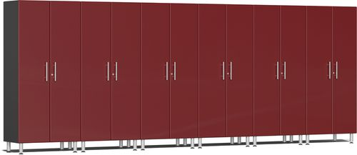 Ruby Red Metallic MDF 6-Pc Tall Cabinet Kit